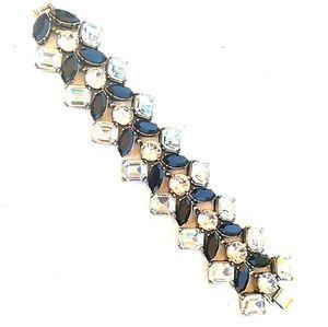 🆕 NWOT J Crew Chunky Gold B/W Rhinestone Bracelet